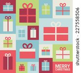illustration with christmas... | Shutterstock .eps vector #227558506