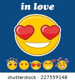 in love smiley set | Shutterstock .eps vector #227559148
