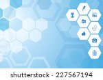 abstract medical  blue... | Shutterstock .eps vector #227567194