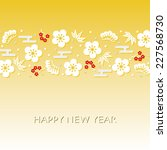 japanese style new year card | Shutterstock .eps vector #227568730