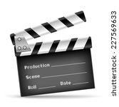 the retro clapper board on the... | Shutterstock .eps vector #227569633