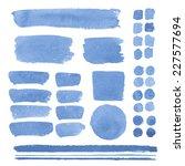 set of watercolor elements ... | Shutterstock . vector #227577694