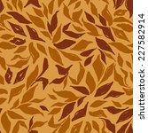 autumn leaves seamless vector...   Shutterstock .eps vector #227582914