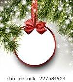 christmas paper card. winter...   Shutterstock .eps vector #227584924