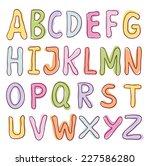 sketch alphabet hand drawn.  | Shutterstock .eps vector #227586280