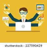 vector flat illustration of... | Shutterstock .eps vector #227590429