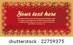 card vector illustration winter | Shutterstock .eps vector #22759375