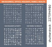 400 business  office  holidays  ... | Shutterstock .eps vector #227594980