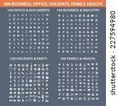 400 business  office  holidays  ... | Shutterstock .eps vector #227594980