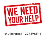 red stamp   we need your help | Shutterstock . vector #227596546