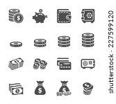 money icon set  vector eps10  | Shutterstock .eps vector #227599120