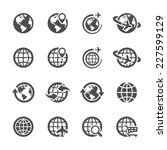 global communication icon set ...