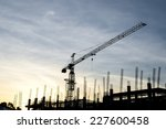 silhouettes of construction...   Shutterstock . vector #227600458