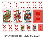 poker size heart playing cards... | Shutterstock .eps vector #227601124