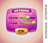 pink cartoon options panel ...