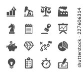 business and finance icon set ... | Shutterstock .eps vector #227606314