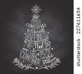 vintage hand lettering... | Shutterstock .eps vector #227611654