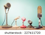 old retro microphones for press ... | Shutterstock . vector #227611720