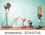old retro microphones for press ... | Shutterstock . vector #227611720