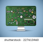 inside the computer | Shutterstock .eps vector #227613460