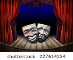 theater stage with open red... | Shutterstock . vector #227614234