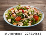 roast chicken fillet and... | Shutterstock . vector #227614666