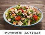 roast chicken fillet and... | Shutterstock . vector #227614666