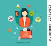 business customer care service... | Shutterstock .eps vector #227614828