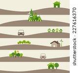 green eco earth. vector... | Shutterstock .eps vector #227616370
