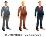 business men posing set | Shutterstock . vector #227617279