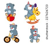 a set of bears cartoon | Shutterstock .eps vector #227626723