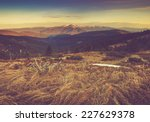 panoramic mountain landscape in ... | Shutterstock . vector #227629378