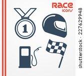Set Of Four Flat Racing Icons ...
