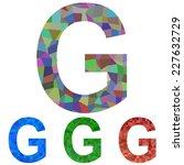 mosaic font design   letter g   Shutterstock .eps vector #227632729