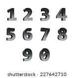 number from 0 to 9 | Shutterstock . vector #227642710