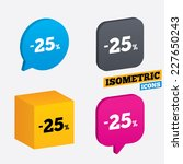 25 percent discount sign icon.... | Shutterstock .eps vector #227650243