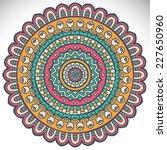 mandala. round ornament pattern.... | Shutterstock .eps vector #227650960