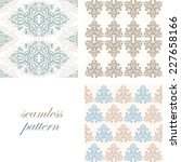 set of seamless vintage light... | Shutterstock .eps vector #227658166