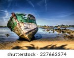 Shipwreck On A Beach In Brittany