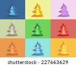 colorful and funny christmas... | Shutterstock .eps vector #227663629