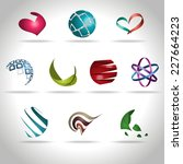 set of abstract icons  vector... | Shutterstock .eps vector #227664223