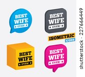 best wife ever sign icon. award ... | Shutterstock .eps vector #227666449