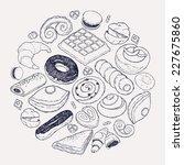 vector hand drawn ink pen... | Shutterstock .eps vector #227675860