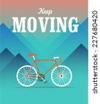 Keep Moving Hipster Poster With ...