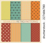 Set Of Retro Geometric Seamles...