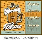 beer menu design. the menu... | Shutterstock .eps vector #227688424