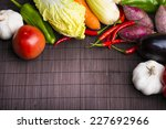 chillies garlic tomato cabbage...   Shutterstock . vector #227692966