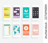 vector collection of mobile...