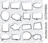 bubbles speech set comic | Shutterstock .eps vector #227694883