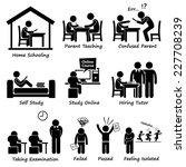 homeschooling home school... | Shutterstock .eps vector #227708239